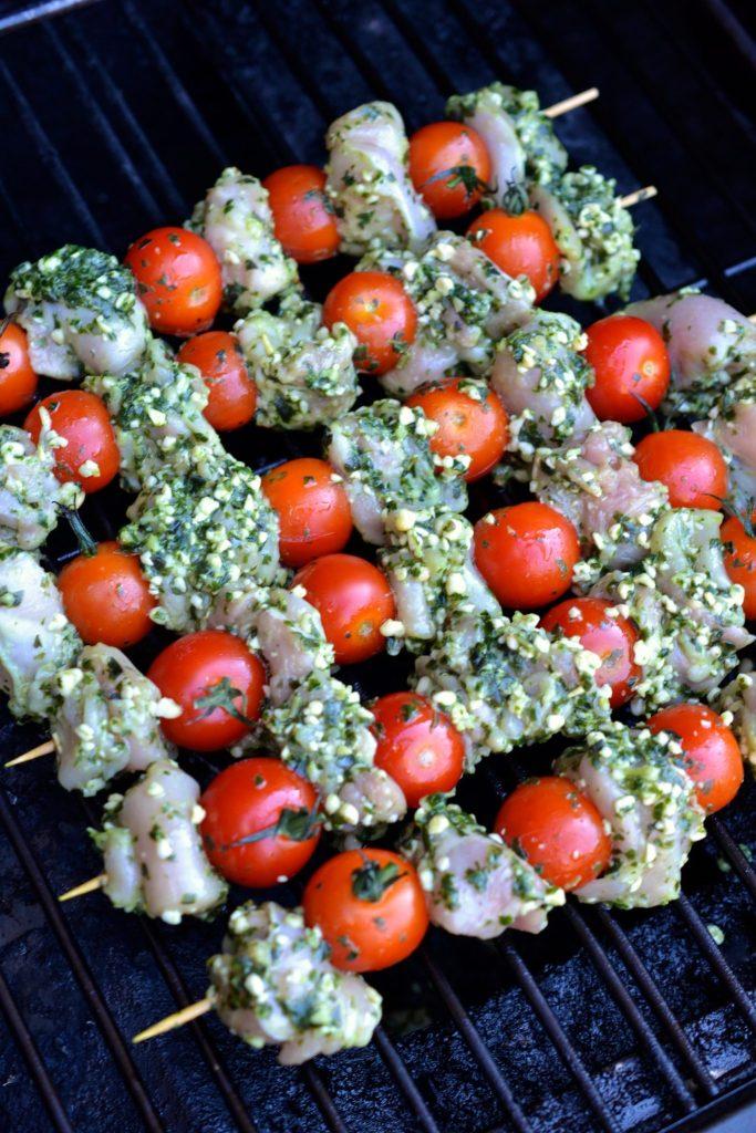 Pesto Chicken Skewers