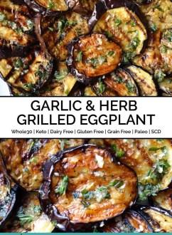 Garlic & Herb Grilled Eggplant