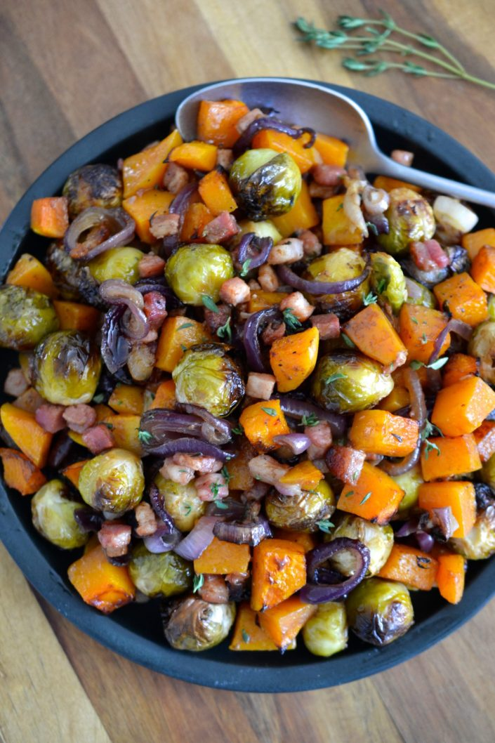 Roasted Brussels Sprouts & Butternut Squash