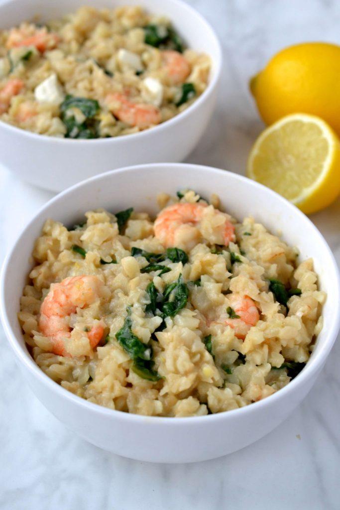 Lemon, Shrimp & Spinach Risotto