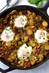 Brussel Sprout & Bacon Hash with Eggs