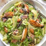 BLT Caesar Salad with Crispy Chicken