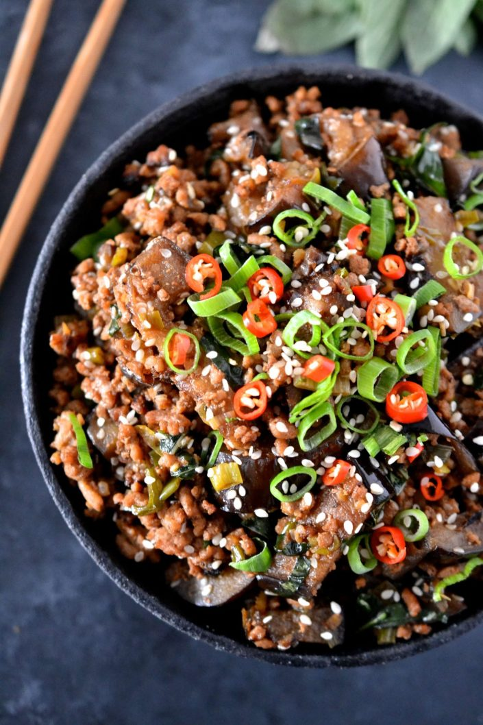 Pork & Eggplant Stir Fry
