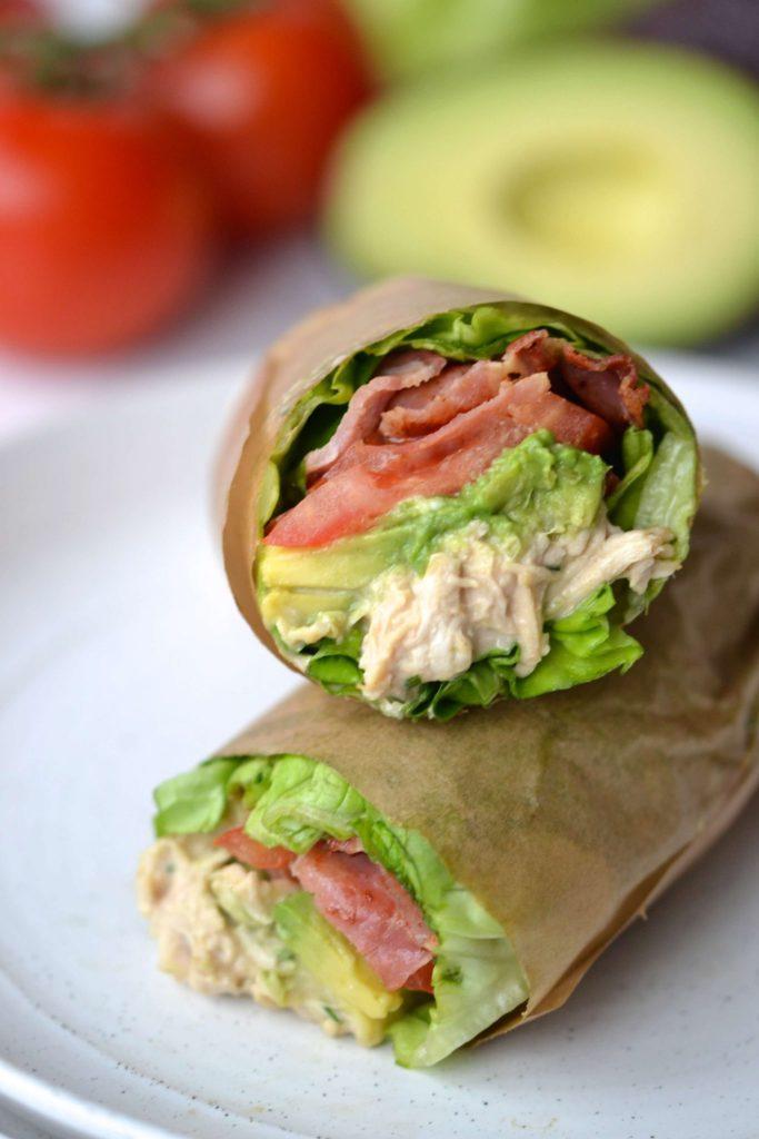 BLT Chicken Lettuce Sandwich Wrap