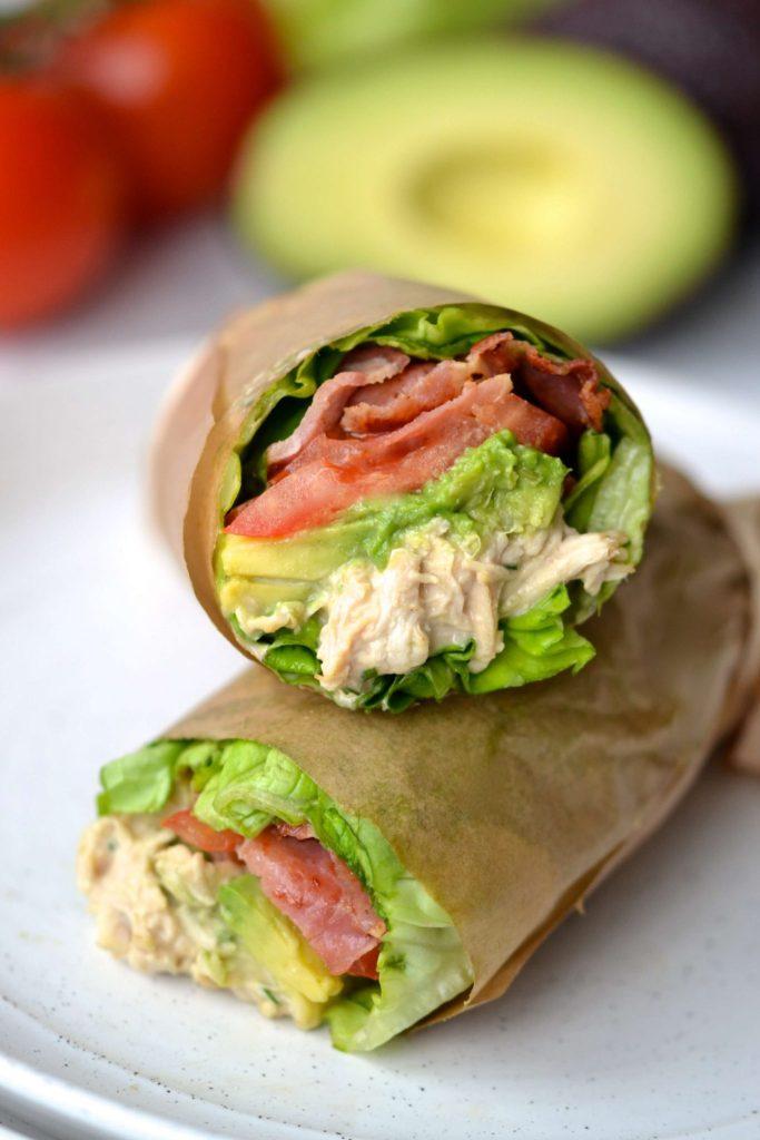 BLT Chicken Salad Wraps