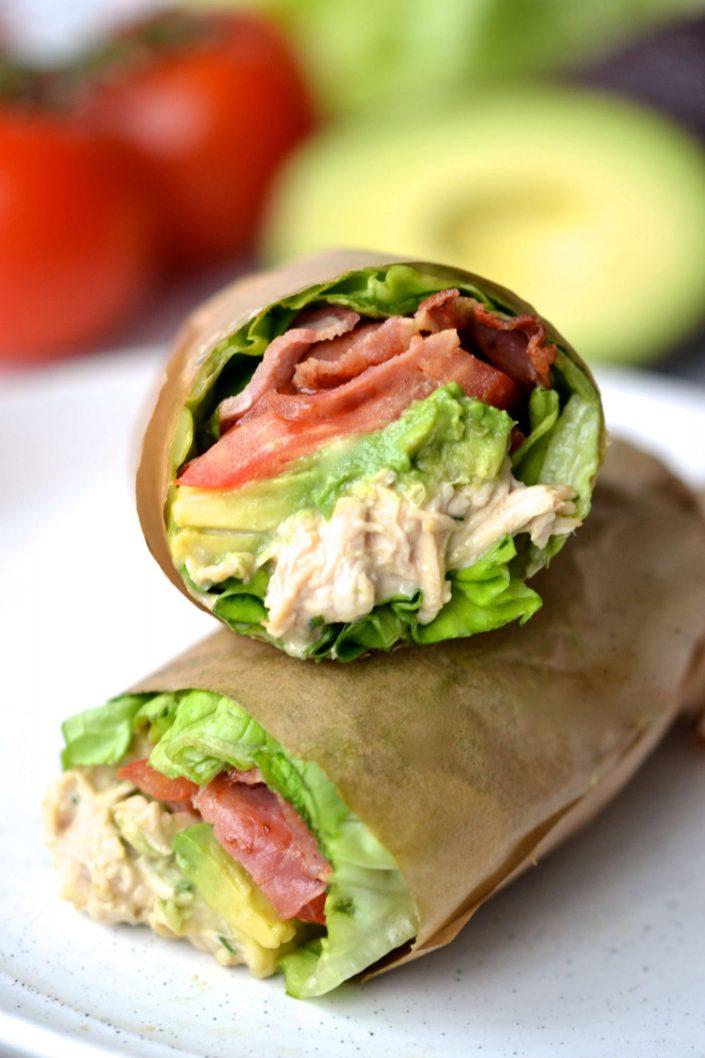 Chicken Lettuce Sandwich Wrap