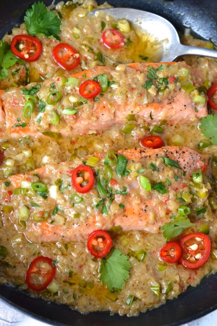 Coconut Ginger Salmon