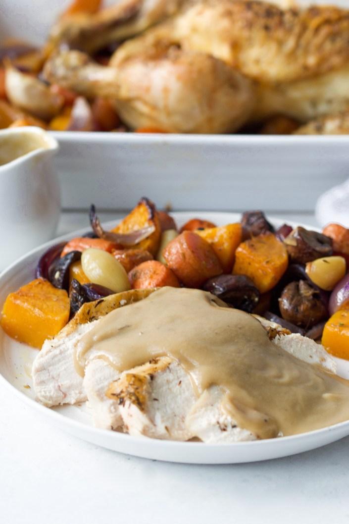 Roast Chicken with Flourless Gravy