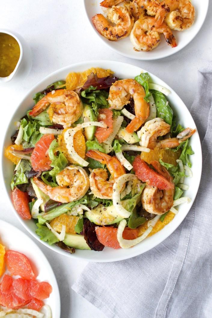 Citrus, Fennel, Avocado & Shrimp Salad