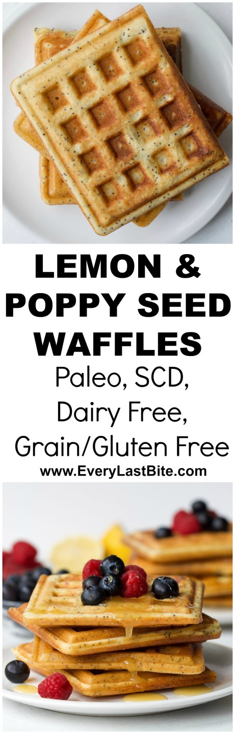 Lemon Poppy Seed Waffles | Every Last Bite