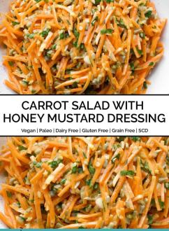 Carrot Salad with Honey Mustard Dressing