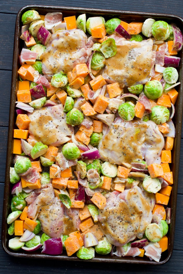 Chicken with Brussels Sprouts