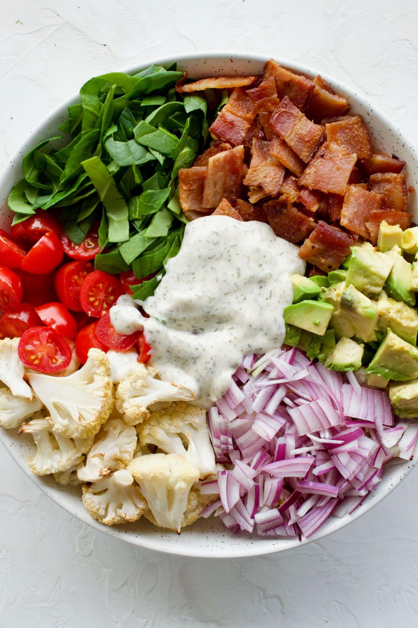 BLT Cauliflower Salad