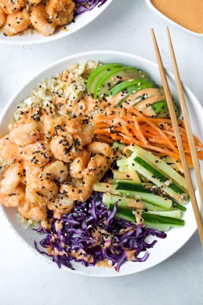 Dynamite Shrimp Sushi Bowl
