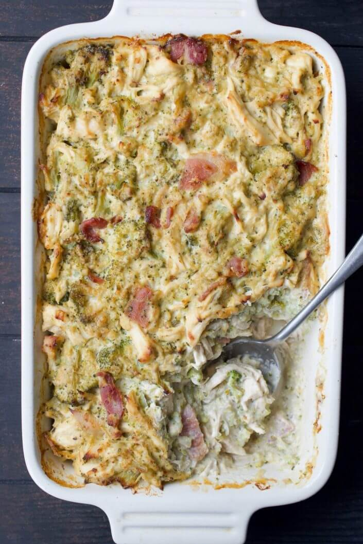 Creamy Chicken, Broccoli & Bacon Casserole