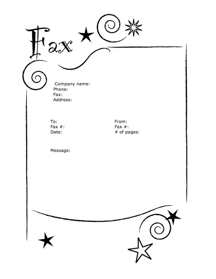 Fancy Fax Cover Sheet Templates Five
