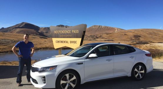 2016 Kia Optima in Aspen, Colorado on Everyman Driver