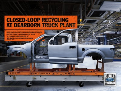 Ford Recycles enough Aluminum to build 30,000 F-150 Bodies Every Month on Everyman Driver