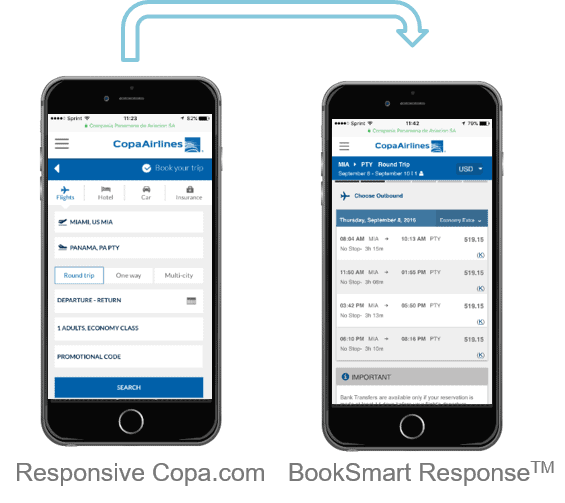 Copa's Responsive Flow with BookSmart Response
