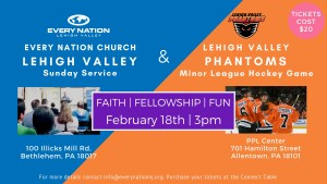 Every Nation Lehigh Valley Fellowship at the Lehigh Valley Pahntoms