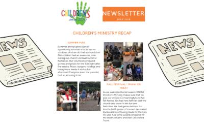 Children's Ministry Newsletter November 2018
