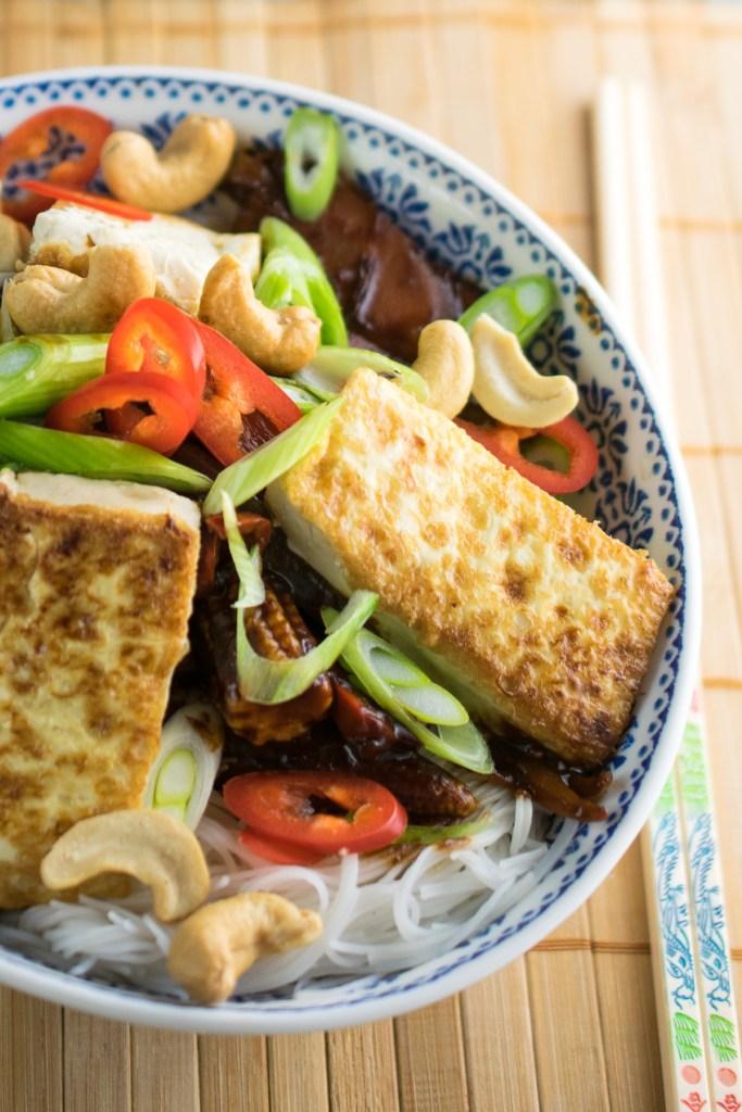 Peanut Noodle Tofu Fry-4