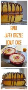 giant jaffa drizzle donut cake