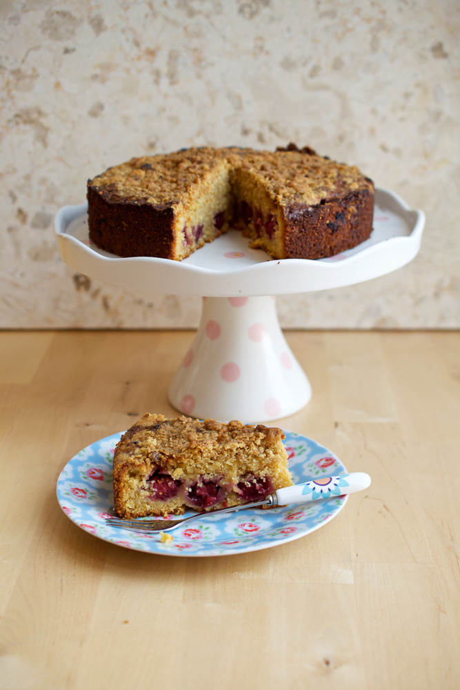 Blackberry & Ginger Crumble Cake - a teatime classic bake for with a cuppa.