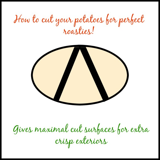 How to cut perfect roast potatoes