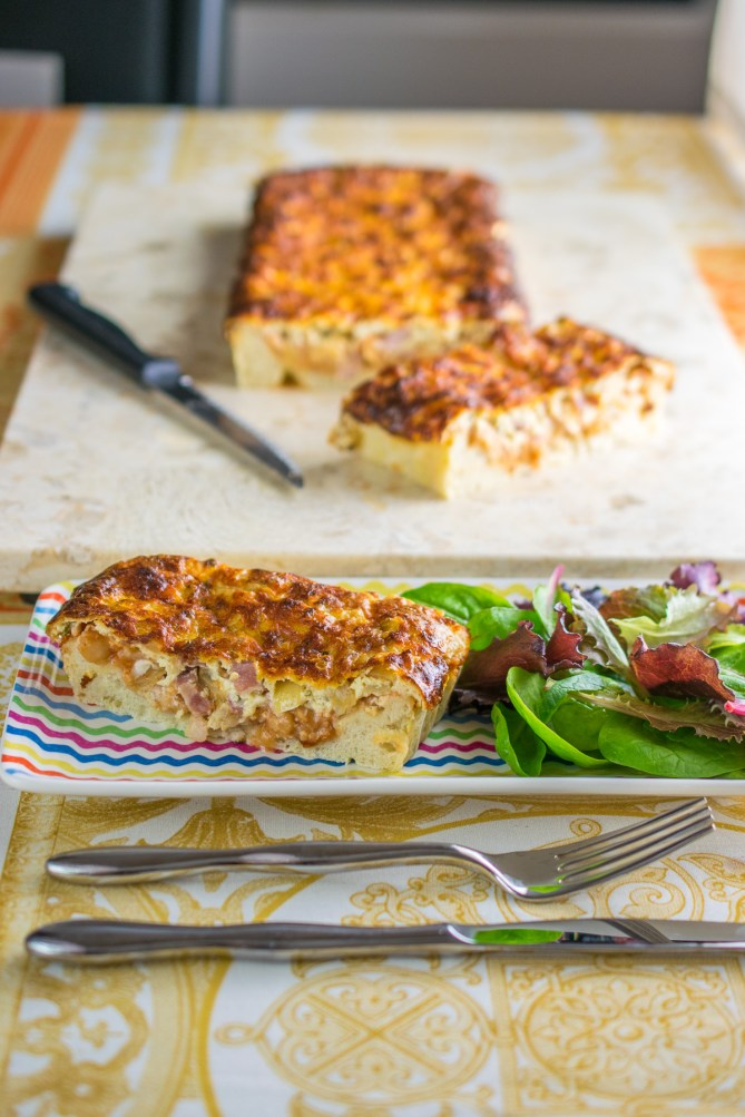 Cheesy Beans & Bacon Quiche-5