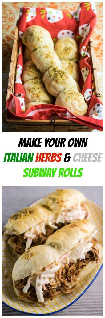 italian herbs & cheese subway rolls