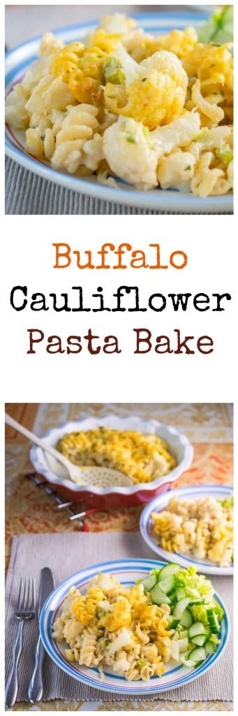 buffalo cauliflower pasta bake