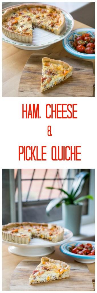 ham, cheese & pickle quiche