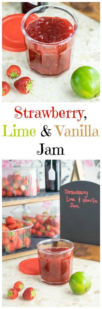 strawberry, lime & vanilla jam