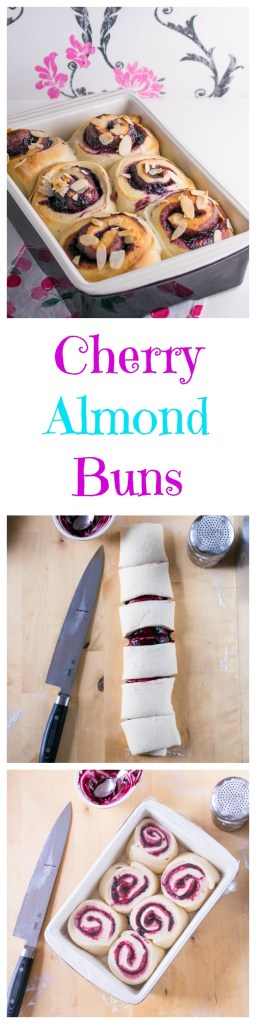 cherry-almond-buns