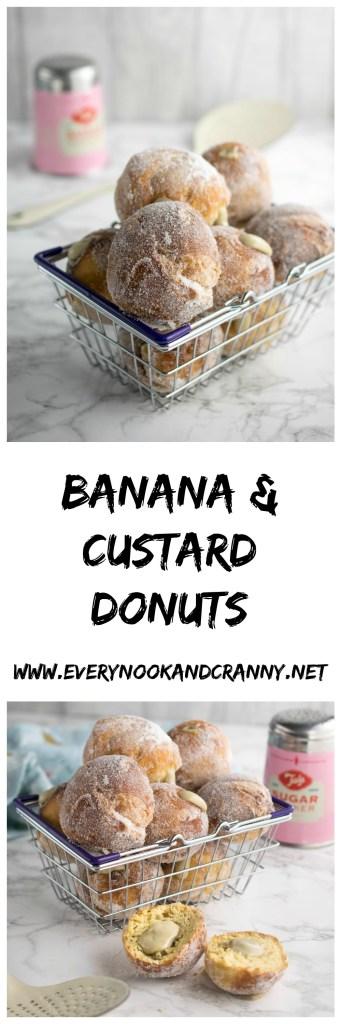 Banana & Custard Donuts