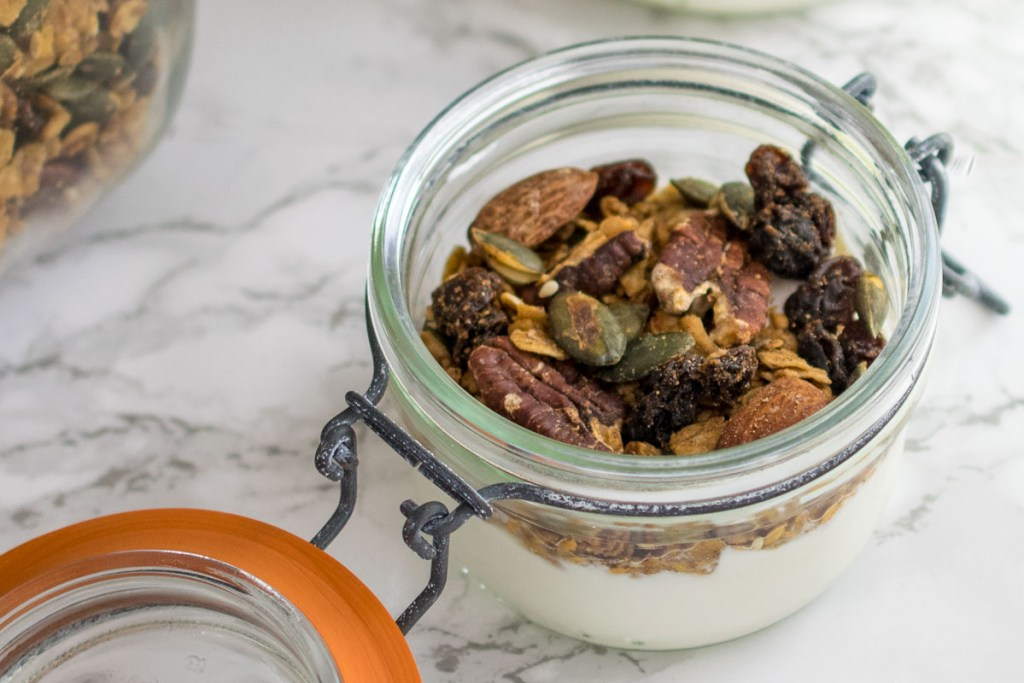 Thick and creamy yogurt made in the Instant Pot topped with homemade granola