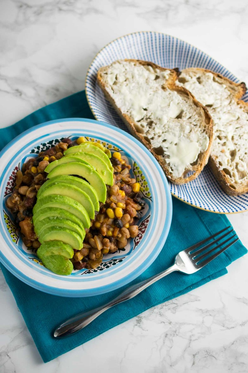 Instant Pot Mixed Bean Chilli