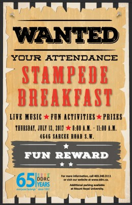 Poster for the 2017 Stampede Breakfast
