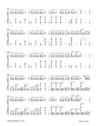 賓克斯的美酒-白十字海賊王自由之歌鋼琴譜檔(五線譜,雙手簡譜,數位譜,Midi,PDF)免費下載
