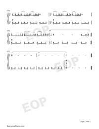 夢中的婚禮-簡單版鋼琴譜檔(五線譜,雙手簡譜,數位譜,Midi,PDF)免費下載