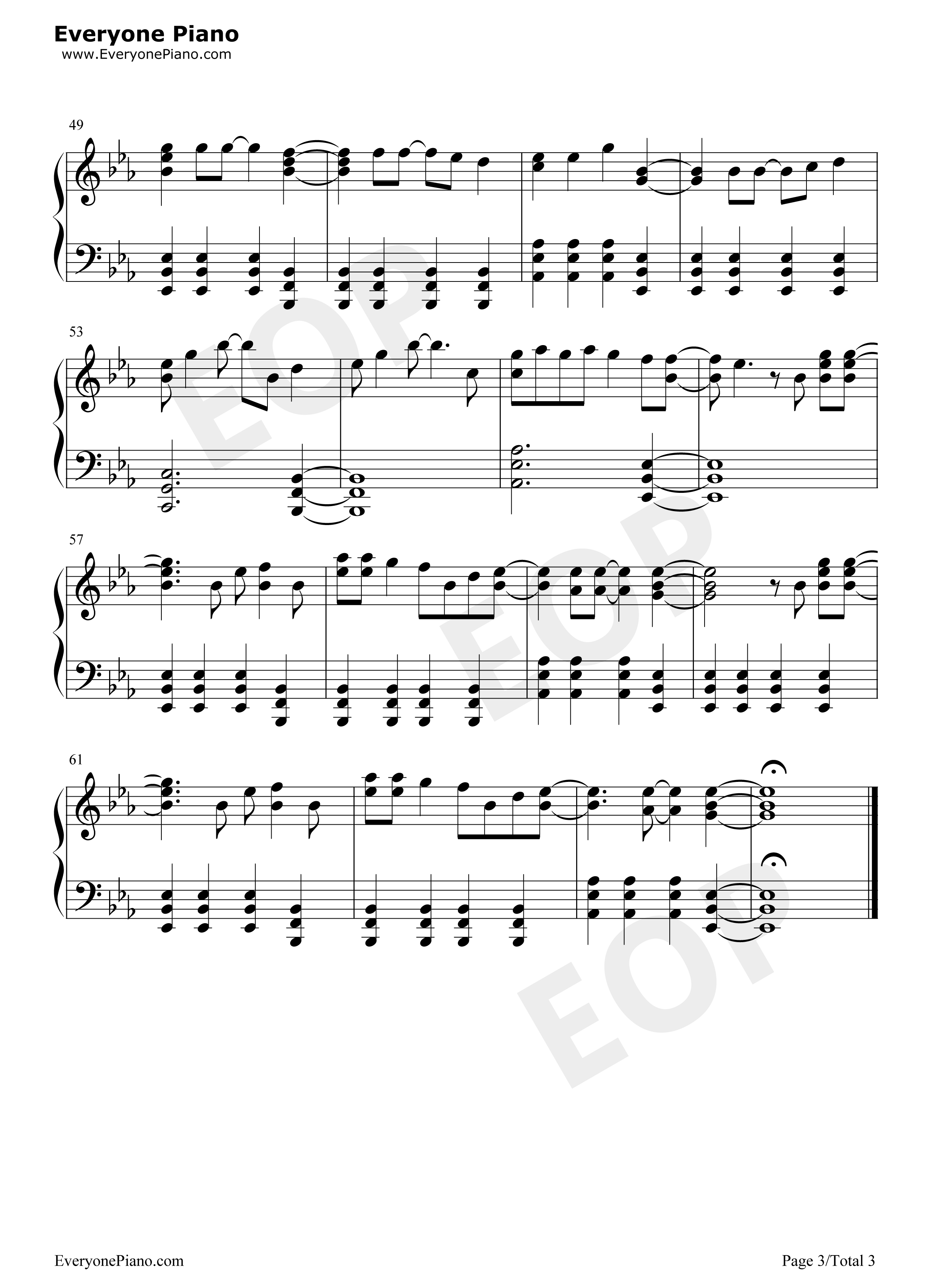 Free Piano Sheet Music With Letters For Popular Songs