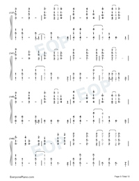 Fix You-Coldplay Numbered Musical Notation Preview