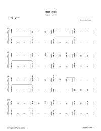 The Hollow Shrine-Yuki Kajiura Numbered Musical Notation