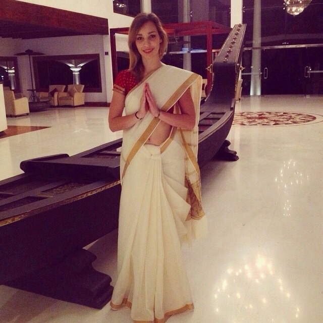 Feeling Indian with my saree