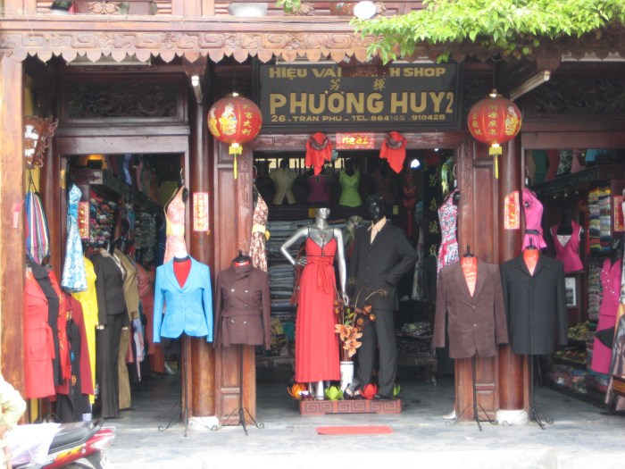 Tailor shop in Hoi An Vietnam - things to do in Hoi An