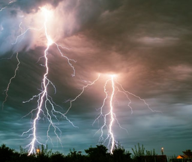 Why Is Life So Hard Photo Of Two Dramatic Sky To Ground Lightning Strikes