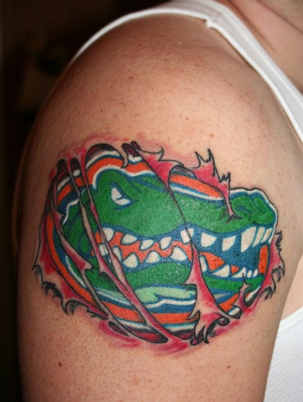 Skin Rip Gator Tattoo