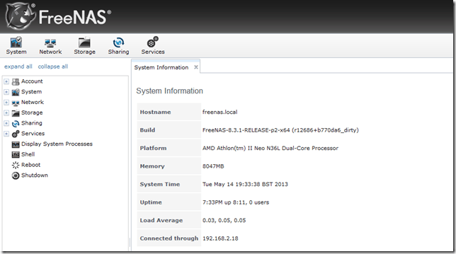 Configuring FreeNAS 8.3 – iSCSI and NFS Storage for VMware vSphere (1/6)