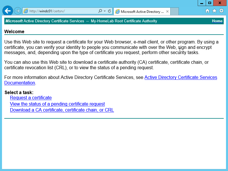 Installing the Home Lab – VMware Certificates – Part One ...